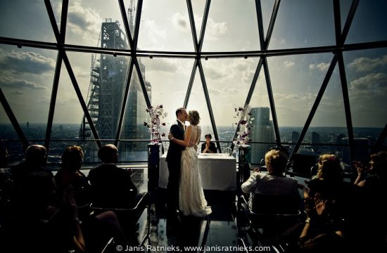 top of the gherkin wedding