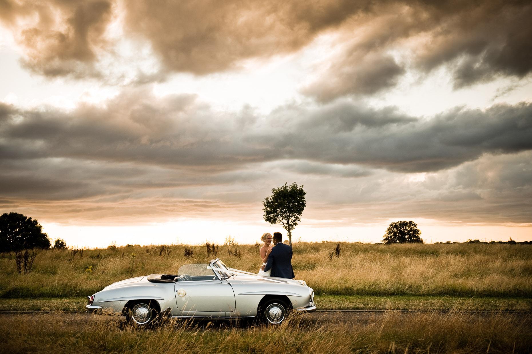 Mercedes SL wedding car