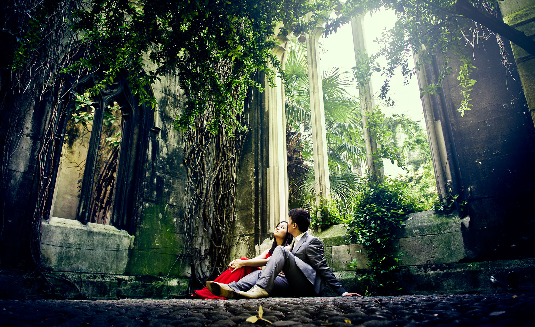 Secret garden pre wedding in London