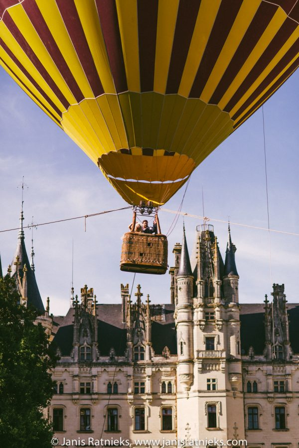 france hot air balloon wedding