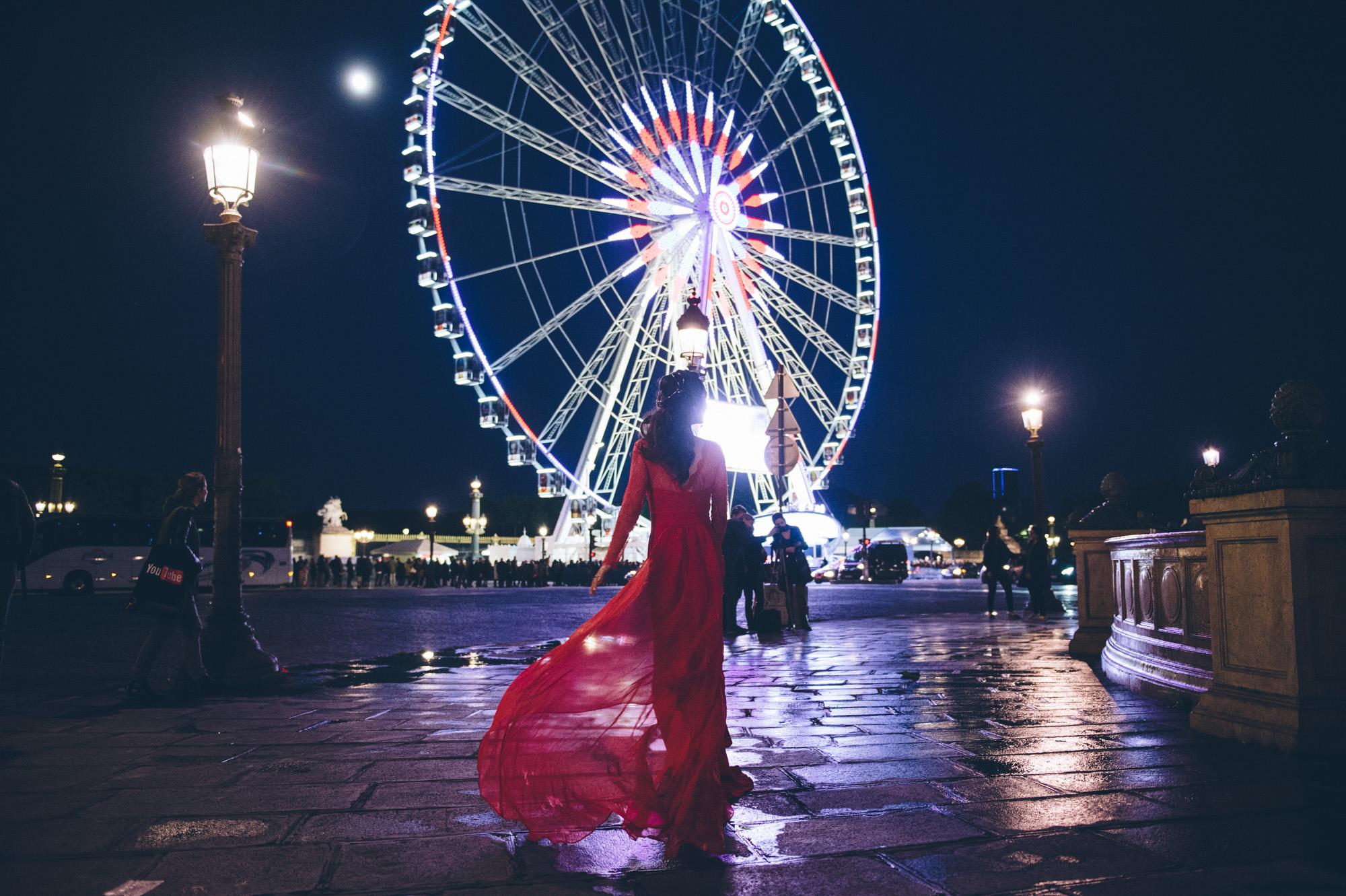 night pre wedding photo shoot