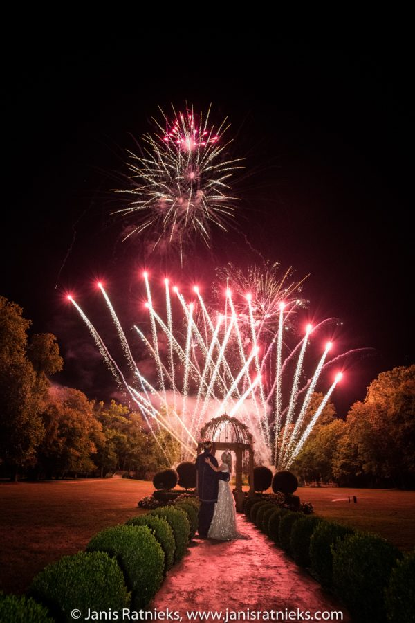 wedding firework display France