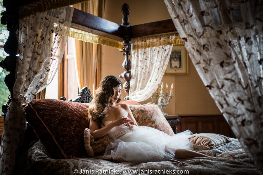 boudouir wedding shoot
