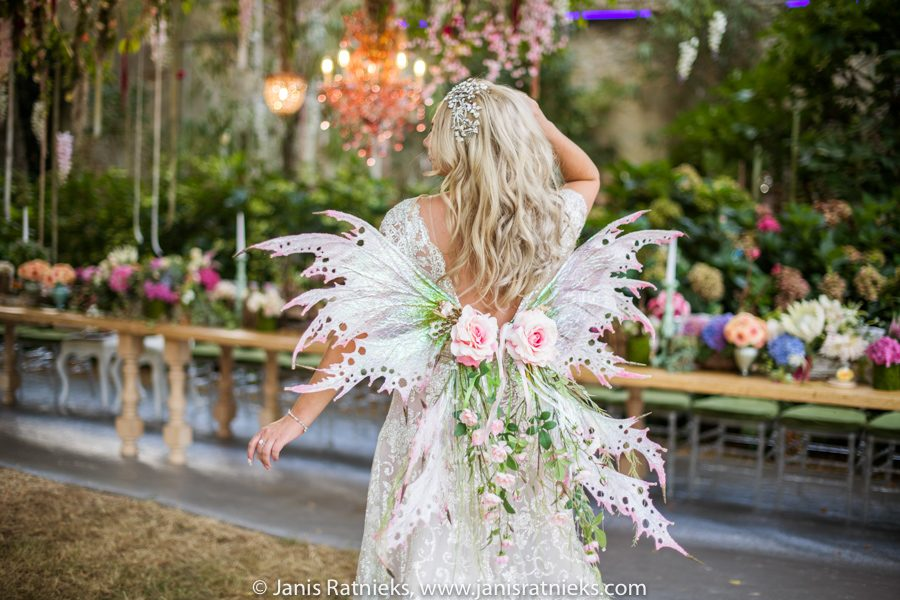bride fairy wings