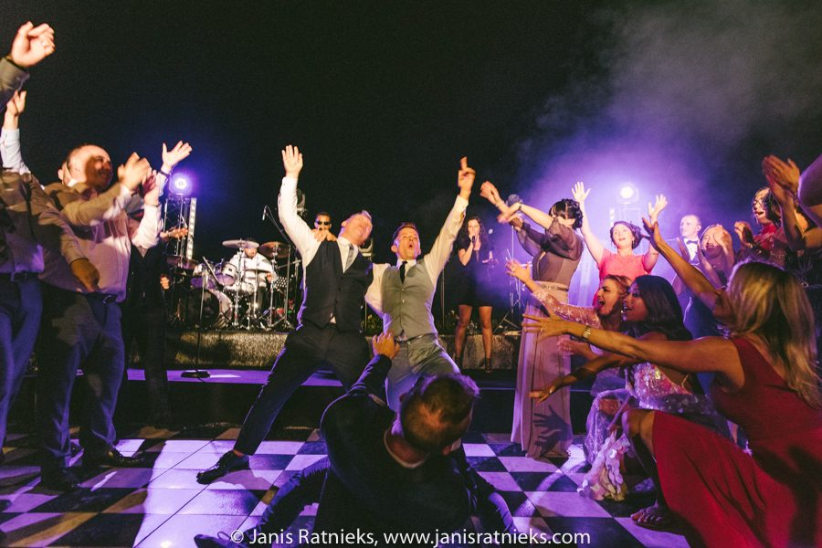 crazy wedding party