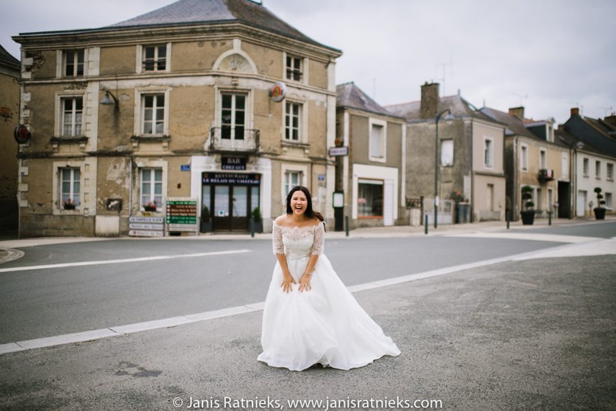little french town wedding photos