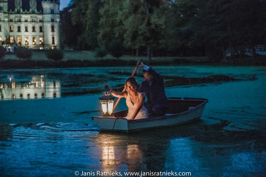 romantic row boat wedding photos