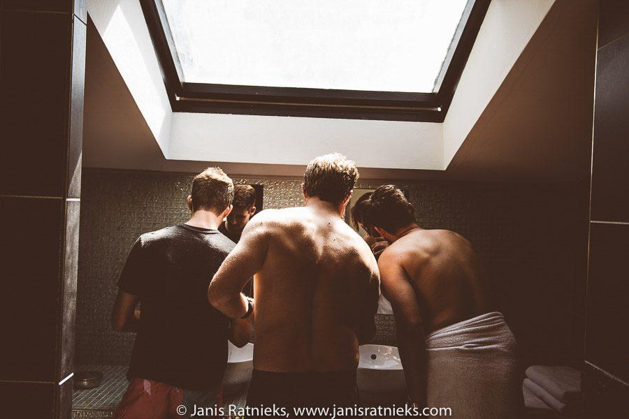boys getting ready