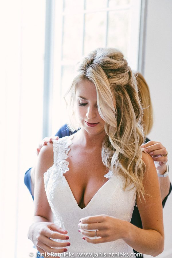bride in the dress