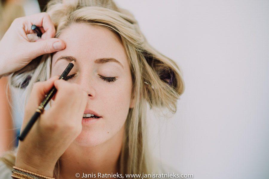 france wedding make-up