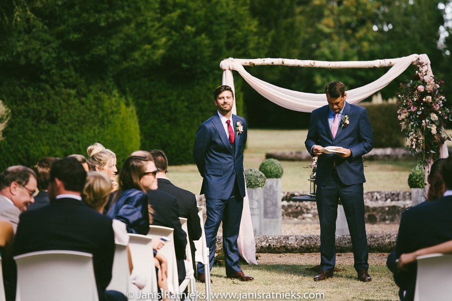 groom at the ceremony