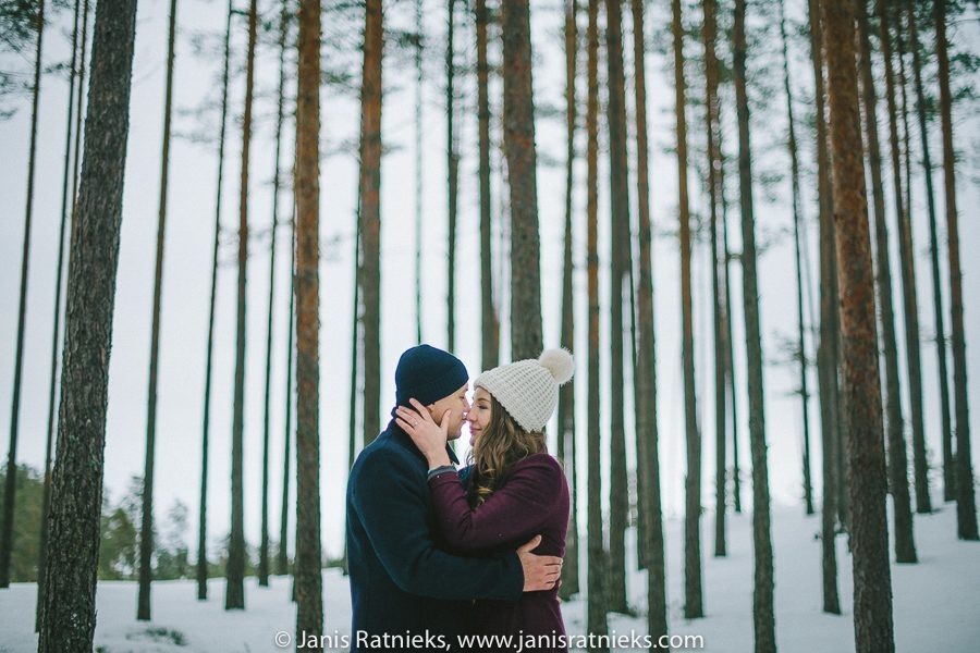snowy forest wedding