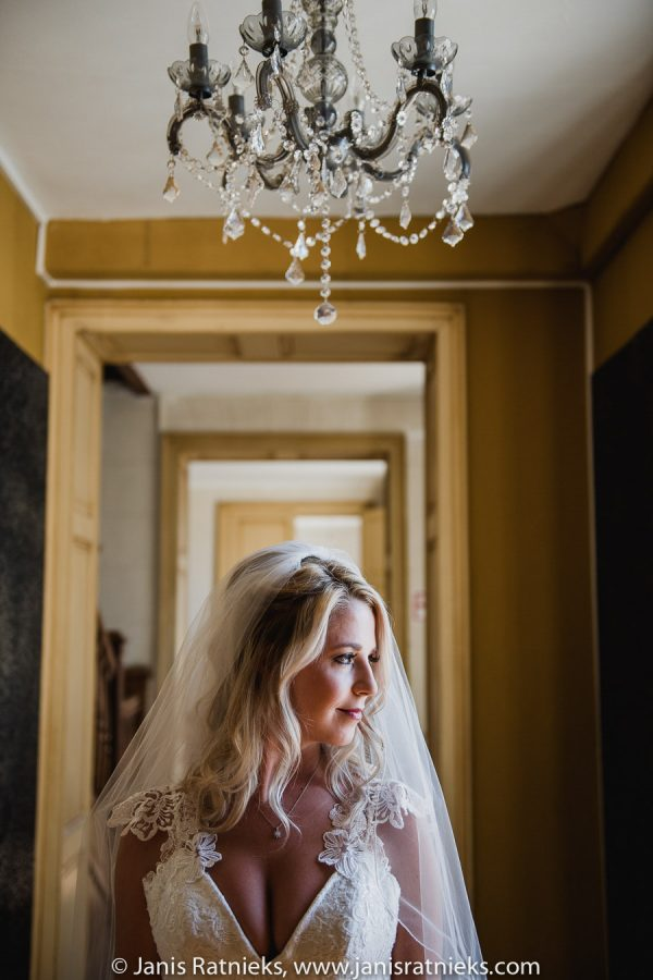 wedding portrait of the bride