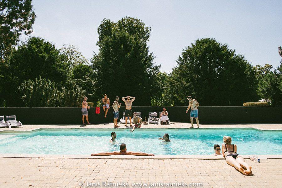 wedding venue with pool