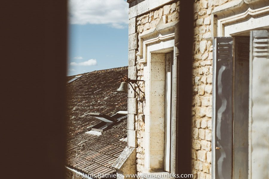 Cognac chateau window view