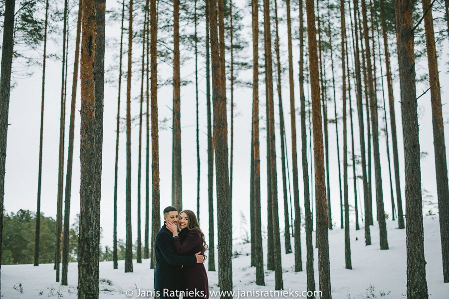 winter engagement photo shoot