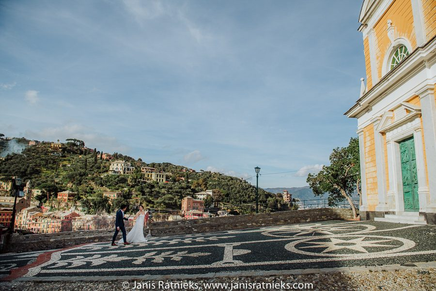San Giorgio church wedding Portofino