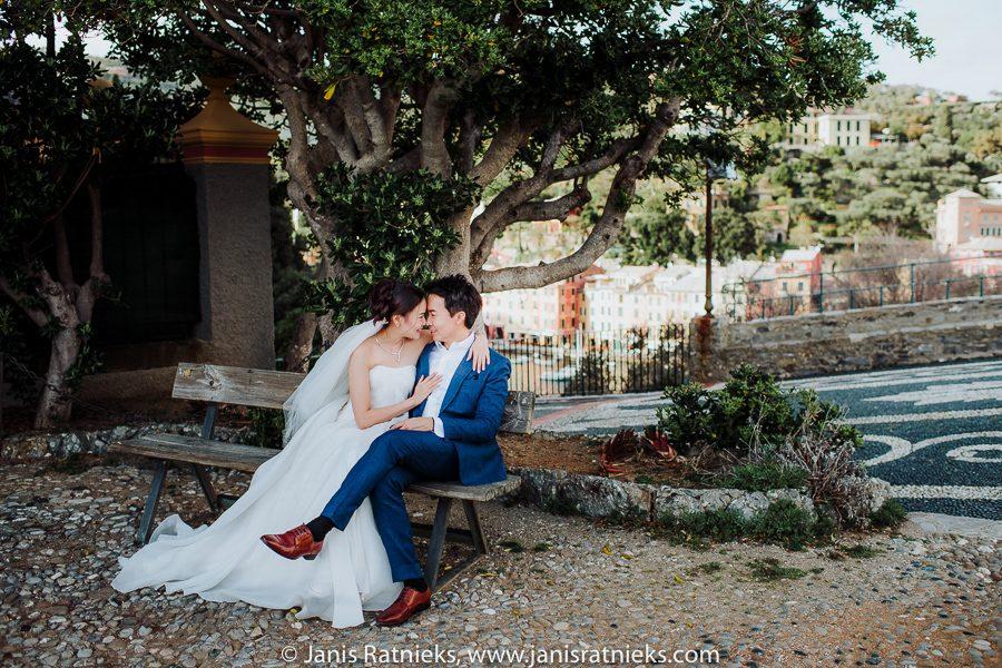 asian pre wedding Portofino