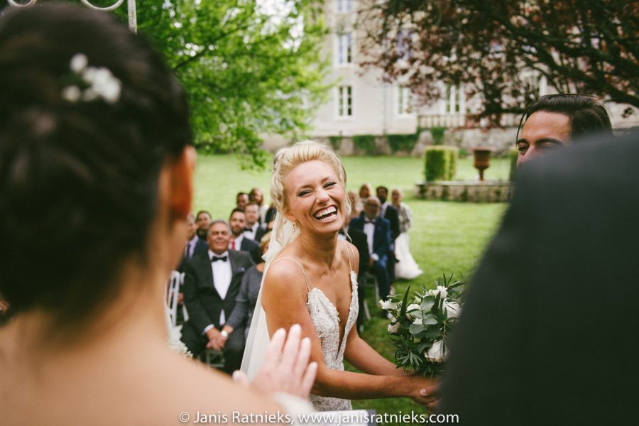 american couple wedding in France