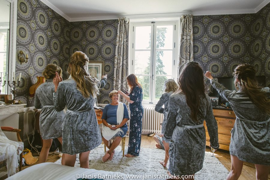 grey velvet bridal party robes