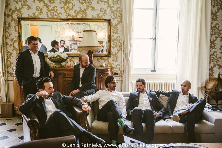 men getting ready