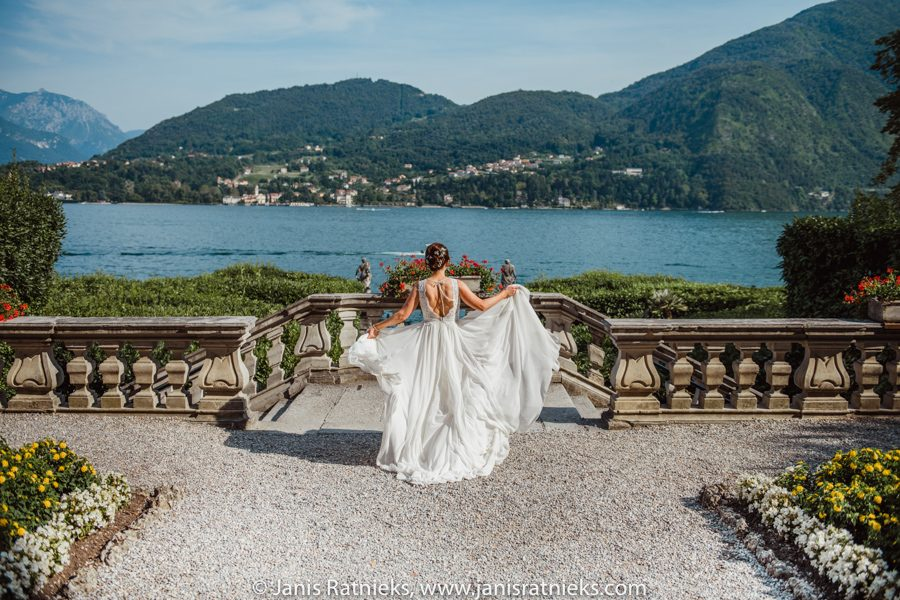 views over lake Como