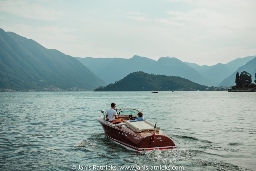 wedding Riva boat