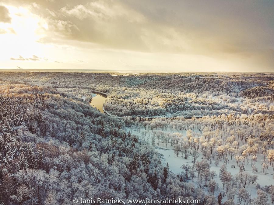 drone photos in winter