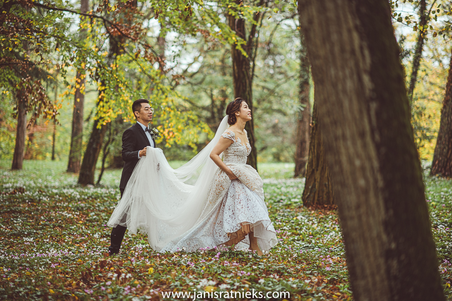 forest wedding france tours