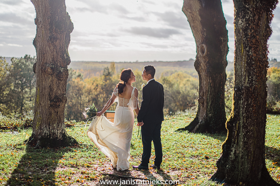 Beautiful autumn wedding day