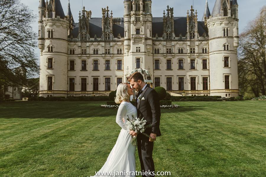 French chateau wedding spring
