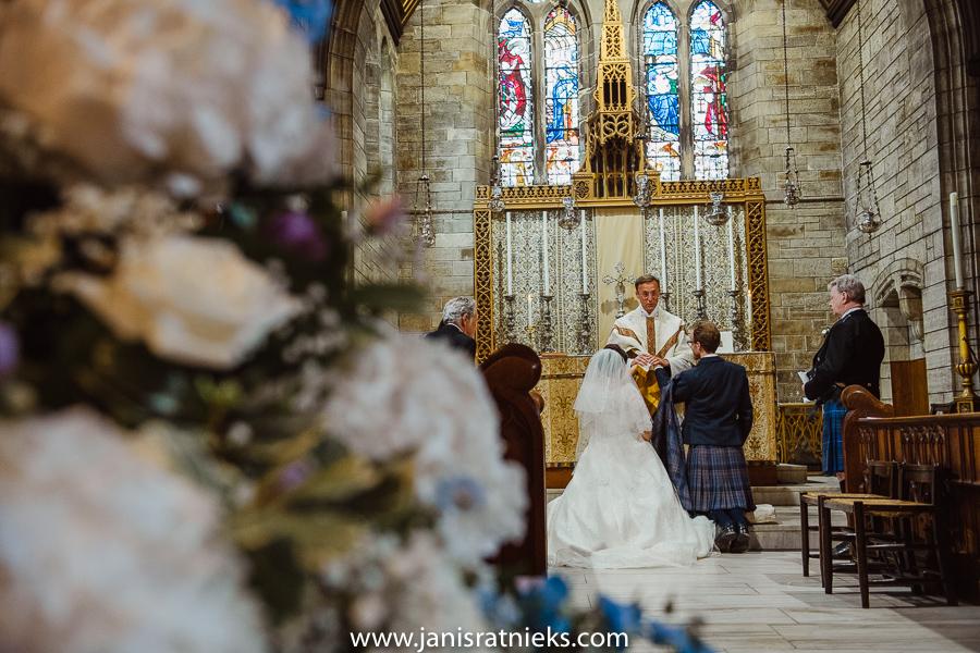 Scottish church wedding