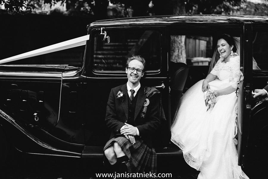 scottish wedding car