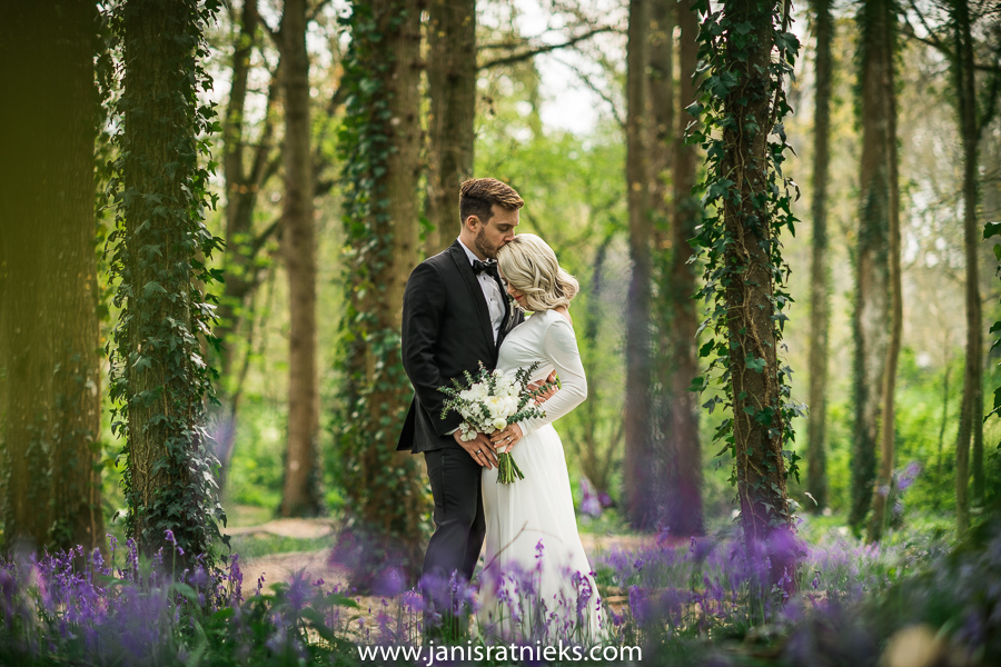 spring wedding in Forest