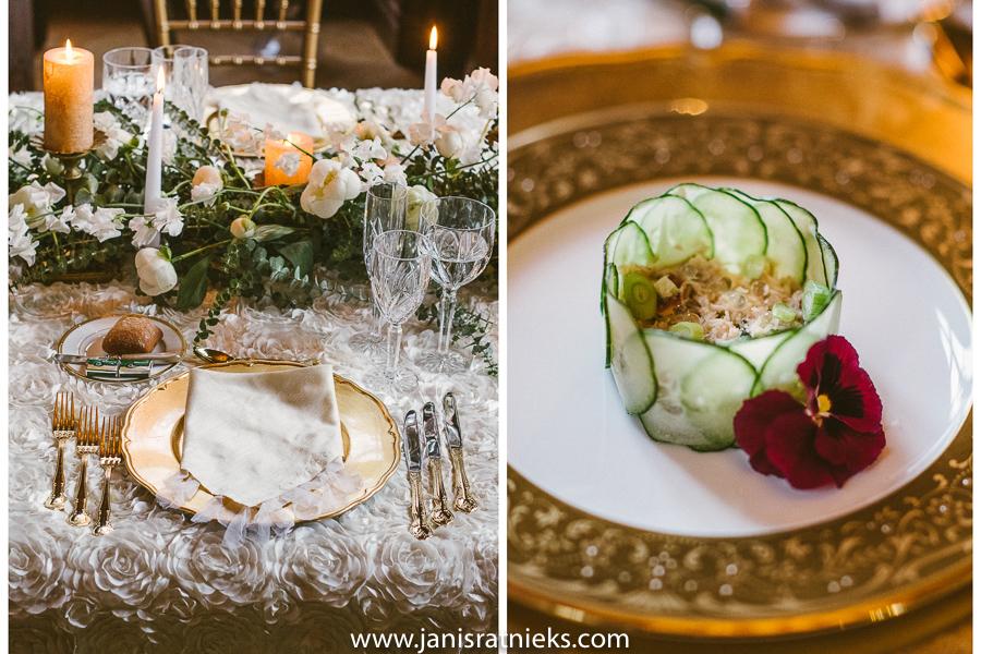 spring wedding menu