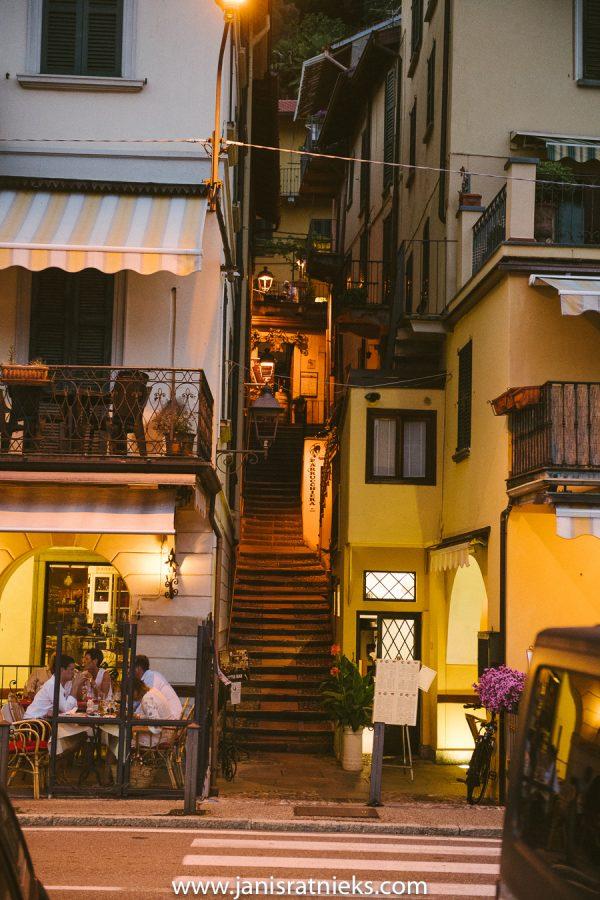 A street in Tremezzo.