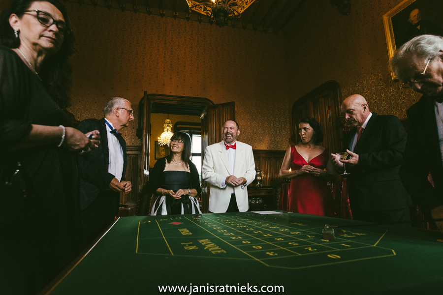 james bond casino theme wedding party
