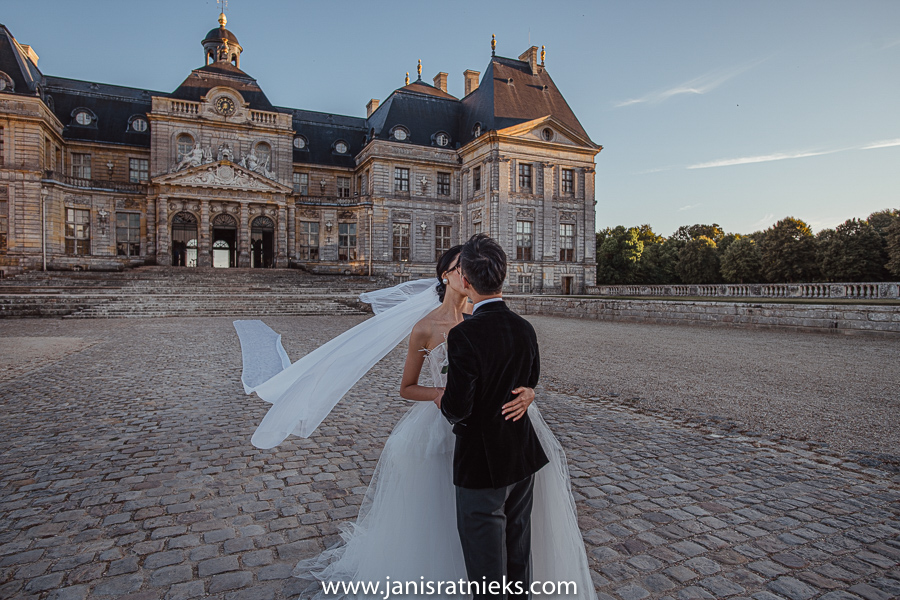 chateau de vaux le Vicomte pre wedding photoshooting