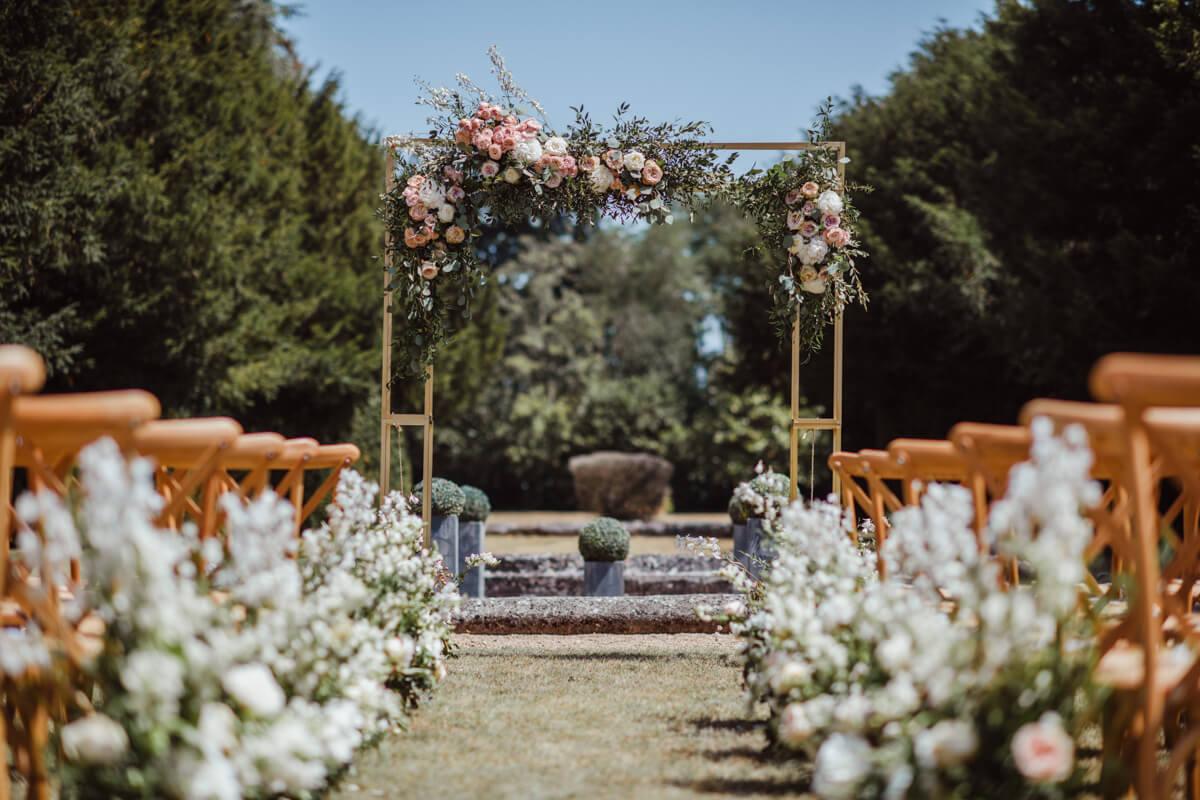 garden wedding ceremony France
