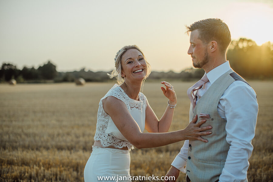 straw field wedding