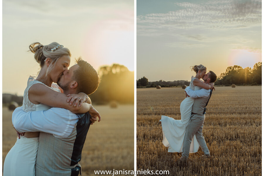 wedding photoshoot ideas field