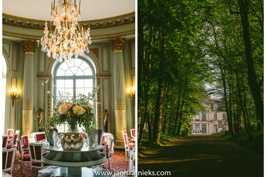 elegant french wedding chateau