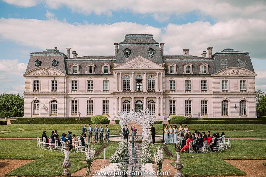 garden ceremony chateau d'Artigny