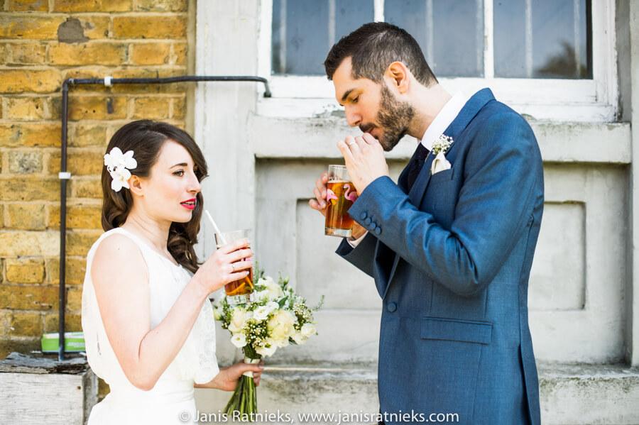 pimms aperitif at wedding