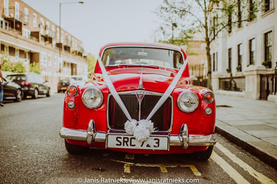 rover wedding car tuned