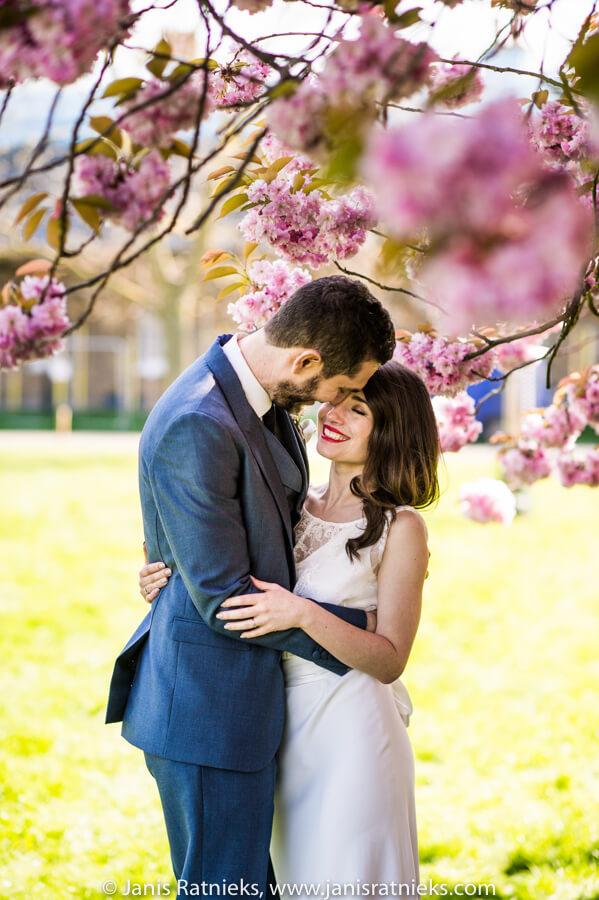 sakura blossoms wedding