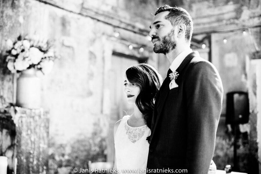 wedding ceremony bw