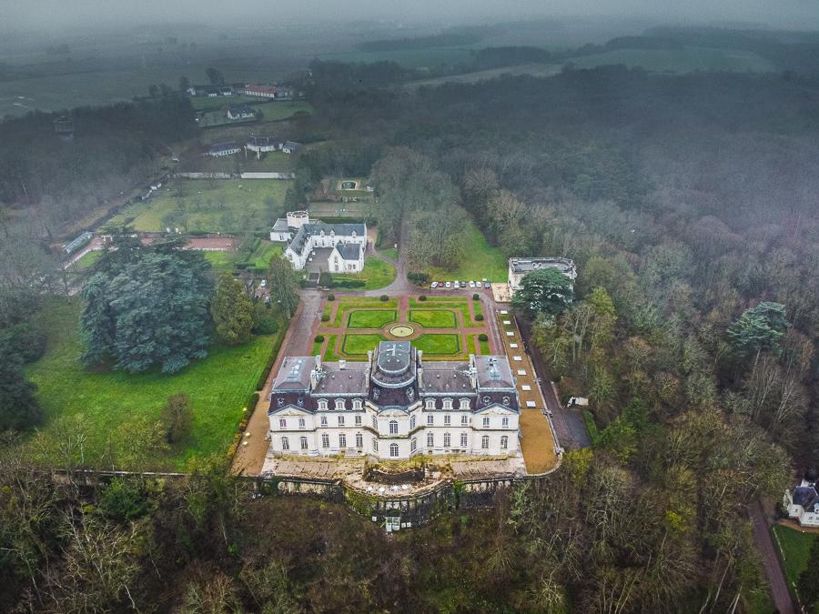 Chateau D'Artingny from drone Mavic Mini