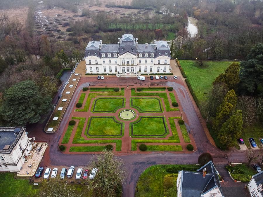 Chateau D'Artigny from a birds view