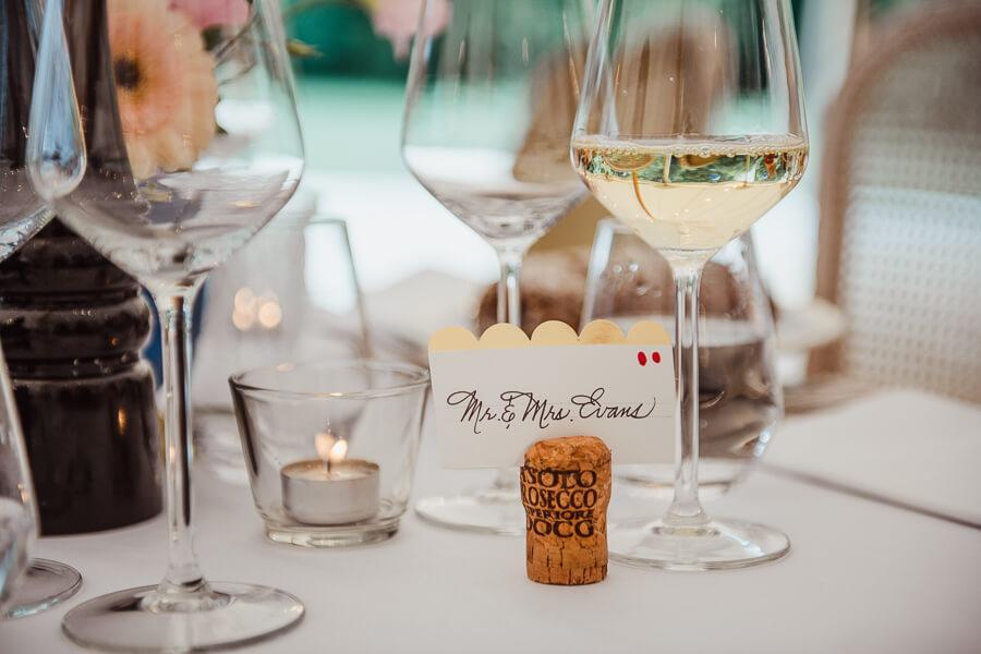 DIY wedding table name cards